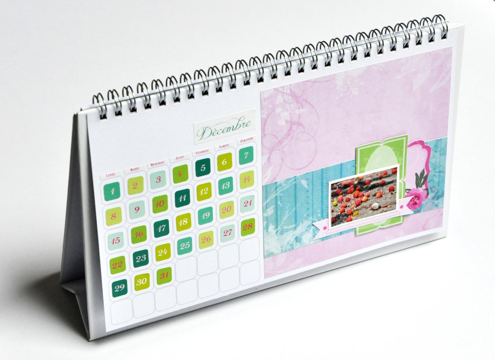 Le calendrier personnalis un joli cadeau de fin d ann e cadeau pour entreprise - Calendrier de bureau personnalise ...